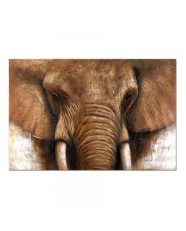 Tableau 2389-2 150 x 100 cm représentant une tête d'éléphant