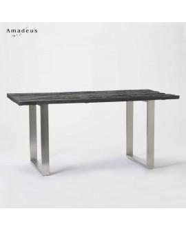 Table de salle à manger en bois recyclé AMT054 style contemporain écologique