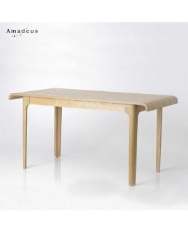 Table repas style scandinave multiplis de frêne AMT061 6 à 8 couverts