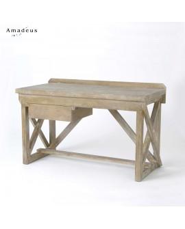 Bureau en bois de pin de style industriel AMB084 avec croisillons