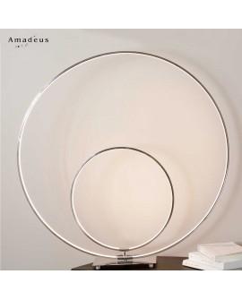 Lampe moderne chic double led AML232 à poser sur une console noire ou en verre