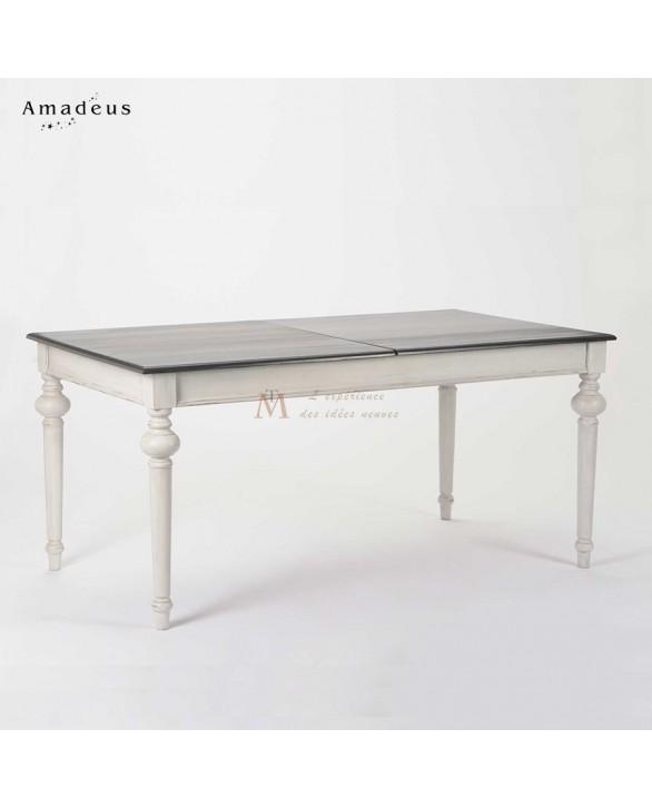 table de salle manger 210cm baroque chic anthracite et blanc. Black Bedroom Furniture Sets. Home Design Ideas