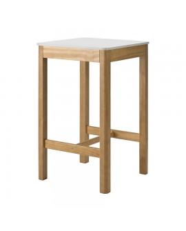 mange debout blanc laqu cheap table mange debout carre phoenix bois de pin naturel plateau laqu. Black Bedroom Furniture Sets. Home Design Ideas