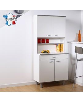 Buffet de cuisine EASY3 blanc et gris fabriqué en France