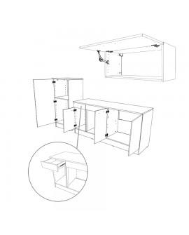 Dessin de l'aménagement intérieur de la cuisine complète contemporaine TWIST