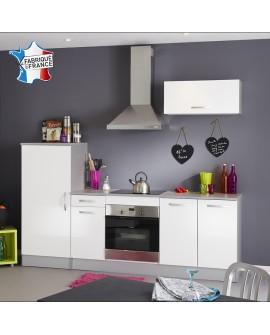 Ensemble cuisine moderne blanc et gris TWIST 3 éléments à monter