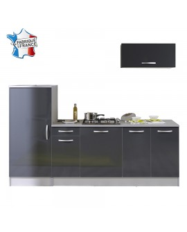 Ensemble cuisine moderne gris anthracite TWIST 3 éléments à monter