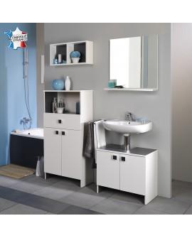 Ensemble salle de bain ZURICH2 sous lavabo miroir 2 caissons 1 armoire