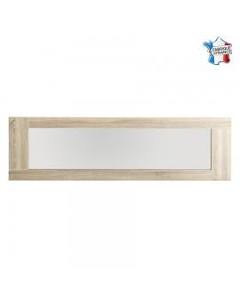 Grand miroir rectangulaire MAGALIE cadre décor chêne brut