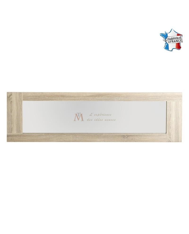 Miroir rectangulaire de salle à manger 190 cm décor chêne brut
