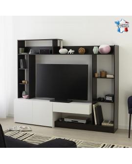 Composition meuble télévision GARCIA moderne et tendance nombreux rangements