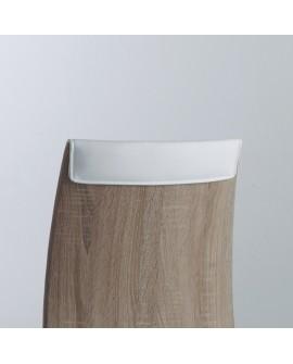 4 chaises design bois assise polyur thane blanc pied m tal for Meuble artemis