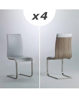 Lot de 4 chaises contemporaines de salle à manger ARTEMIS