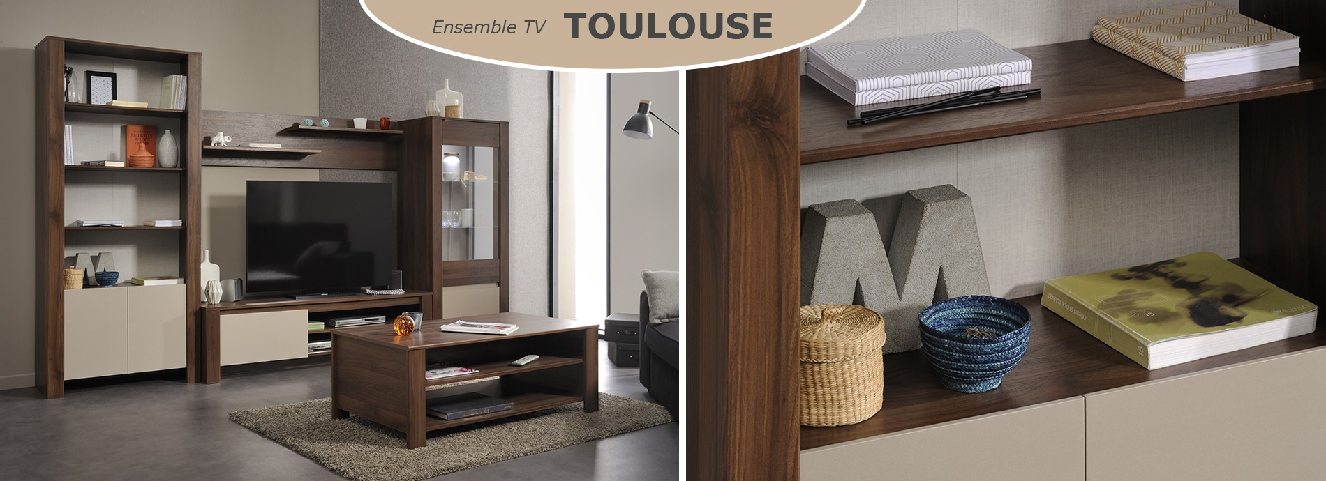 L'ensemble TV TOULOUSE - Composition meuble TV